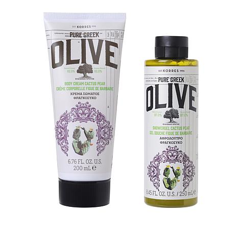 Korres Olive Oil and Cactus Pear Body Duo