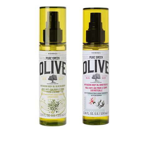 Korres Olive Oil Blossom & Honeysuckle Anti-Aging Body Oil Duo