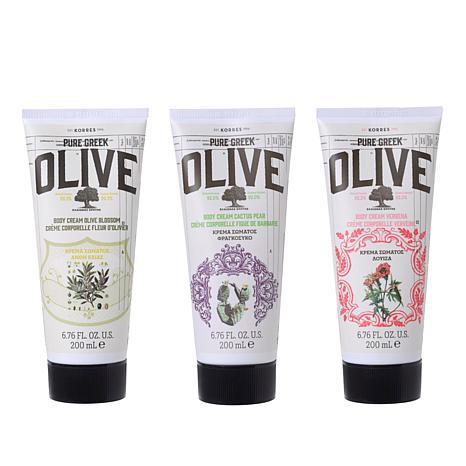 Korres Olive Oil Body Cream Trio - 6.76 fl oz