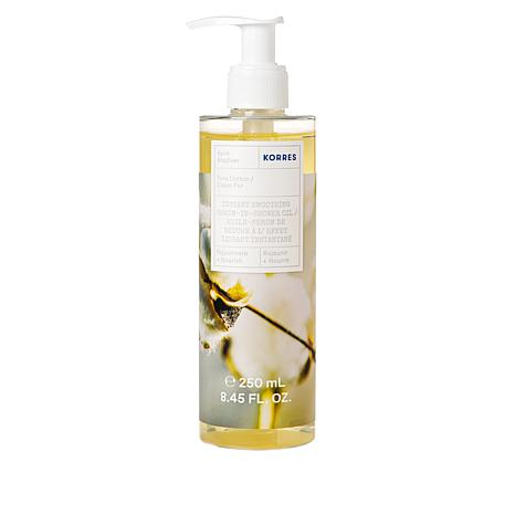 Korres Pure Cotton Instant Smoothing Serum-in-Shower Oil