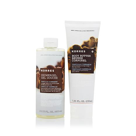 Korres Vanilla Cinnamon Shower Gel and Body Butter Duo