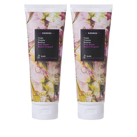 Korres Violet Smoothing Body Butter Duo