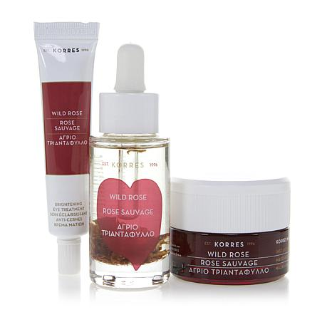 Korres Wild Rose Vitamin C 3-piece Brightening Collection