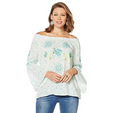 LaBellum by Hillary Scott Bell Sleeve Top