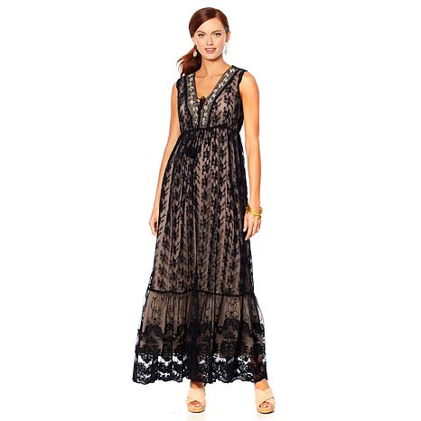 LaBellum by Hillary Scott Lace Maxi Dress
