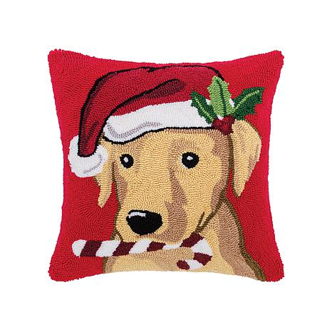 Labrador Hooked Pillow