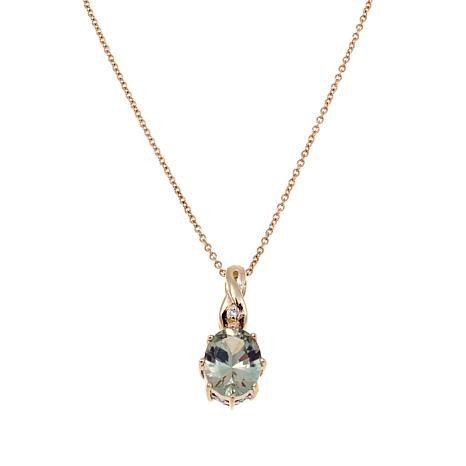 Lance Fischer 2.51ctw Zultanite and Diamond 14K Pendant