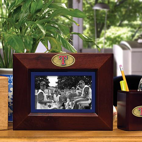 Landscape Brown Picture Frame - Texas Rangers - MLB