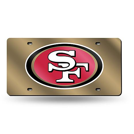 Laser-Engraved Goldtone Plate - San Francisco 49ers