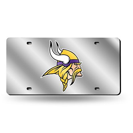 Laser-Engraved Silver Plate - Minnesota Vikings