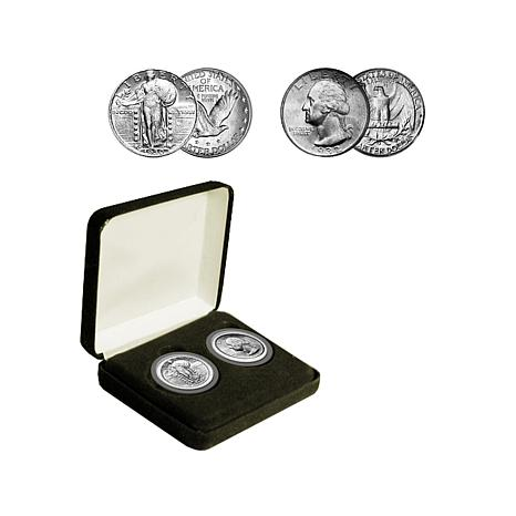 Last Standing Liberty and First Washington Quarter Set