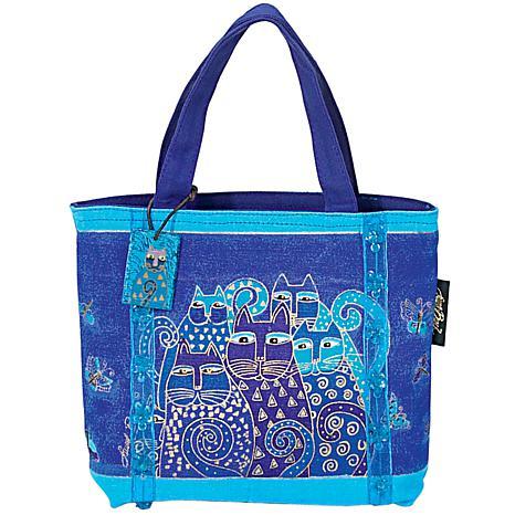 Laurel Burch Mini Bag 11X3X8 - Indigo Cats