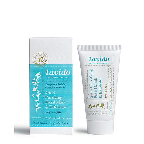 Lavido 2-in-1 Purifying Facial Mask & Exfoliator