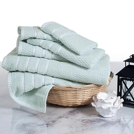 Lavish Home 100% Cotton Chevron 6-piece Towel Set