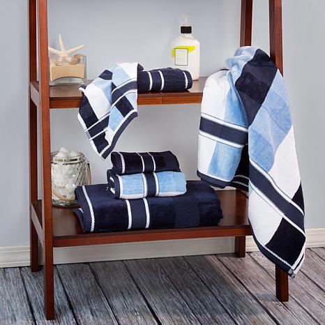 Lavish Home 100% Cotton Oakville Velour 6pc Towel Set