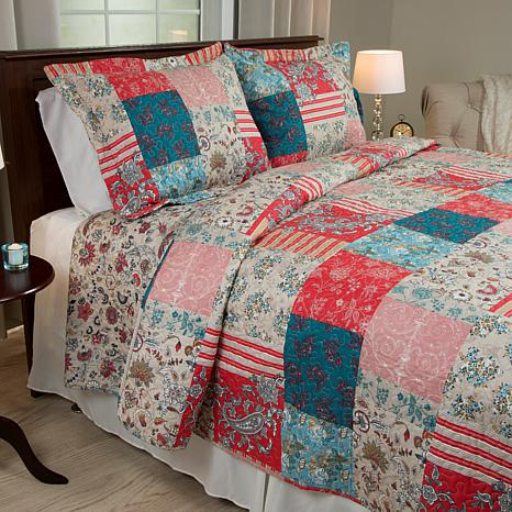 Lavish Home 2-piece Mallory Quilt Set - Twin