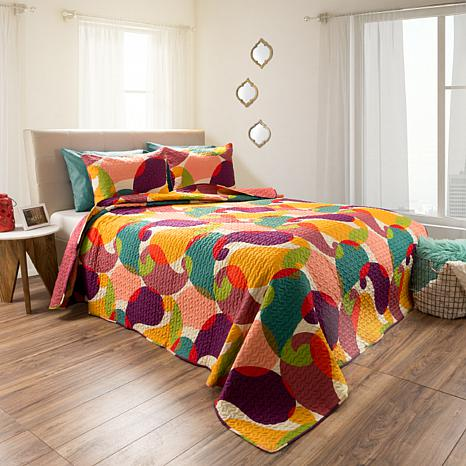Lavish Home 2pc Evelyn Reversible Quilt Set - Twin