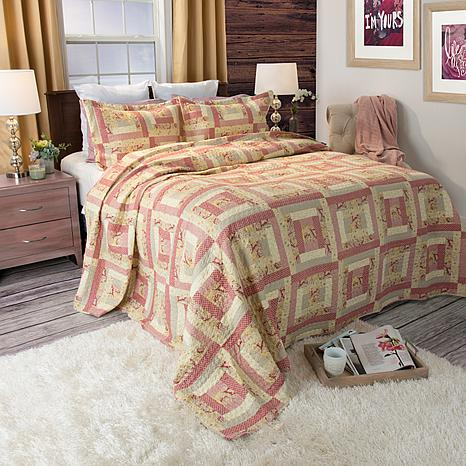 Lavish Home 3-piece Melissa Quilt Set - Full/Queen