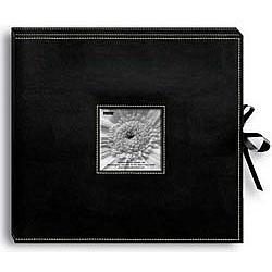 Leatherette D-Ring Scrapbook Album Box - Black