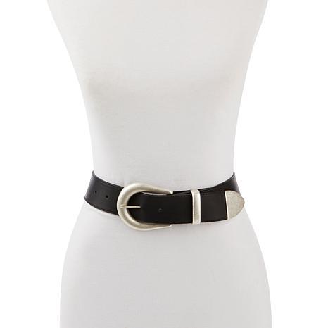 Leatherock Genuine Black Leather Jean Belt