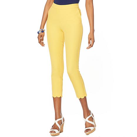 Lemon Way Flawless Twill Scallop Hem Crop Pant