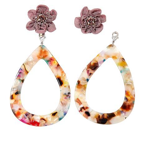 Lemon Way Flower Drop Convertible Earrings
