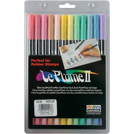 LePlume II Marker Set - 12 Assorted Pastel Colors