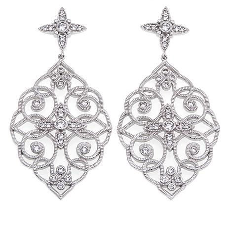 "Leslie Greene 0.98ctw CZ ""Del Amina"" Earrings"