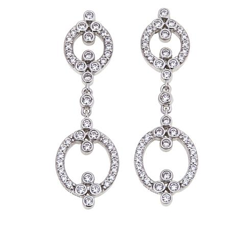 "Leslie Greene 1.46ctw CZ ""Lafayette"" Drop Earrings"