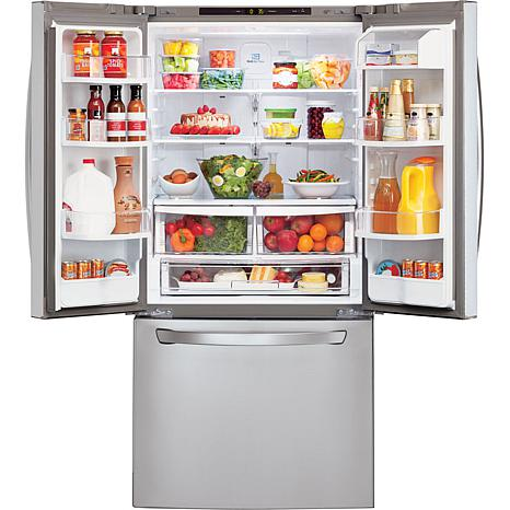 22 Cu Ft French Door Refrigerator Stainless Steel 7885394 Hsn