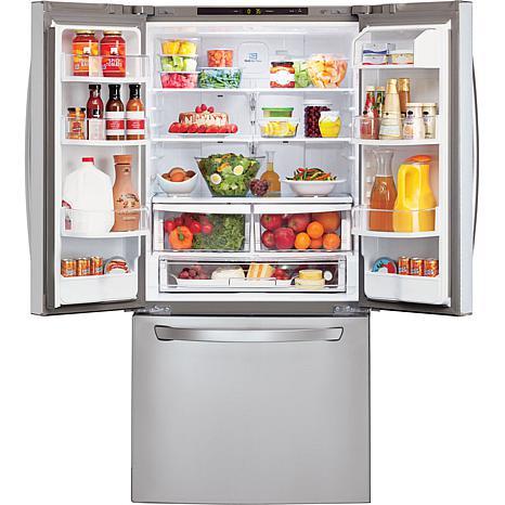 Lg 22 Cu Ft 30 Quot Wide French Door Refrigerator