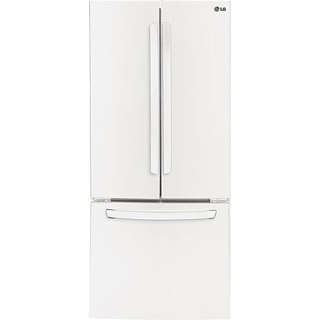 "LG 22 Cu. Ft. 30"" Wide French Door Refrigerator - White"