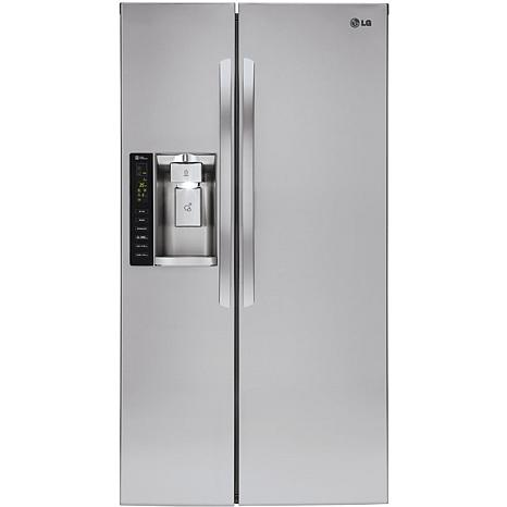 LG 26CF Side-by-Side Refrigerator - Stainless