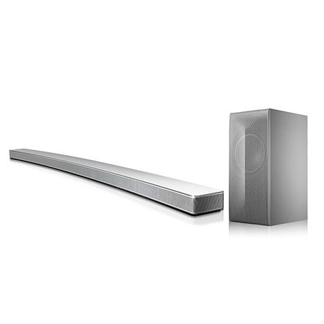 LG 4.1-Channel Curved Wireless SoundBar and Subwoofer