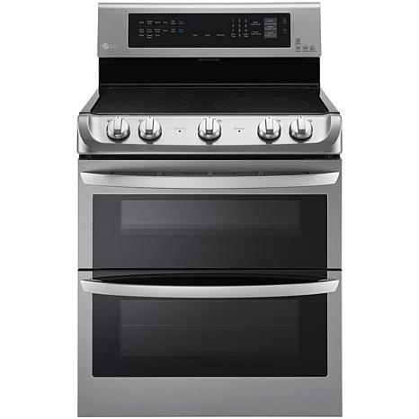 LG 7.3 Cu Ft Electric Dbl Oven w/Infrared Grill - Steel