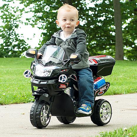 Lil' Rider 3-Wheel Battery-Powered FX Sport Bike - Black