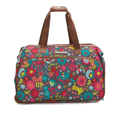 Lily Bloom Wheeled Duffle Bag Playful Garden