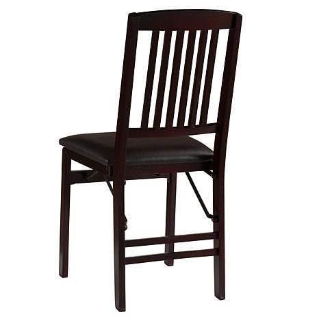 sc 1 st  HSN.com & Linon Home Jocelyn Mission Back Folding Chair - Brown - 8595917   HSN
