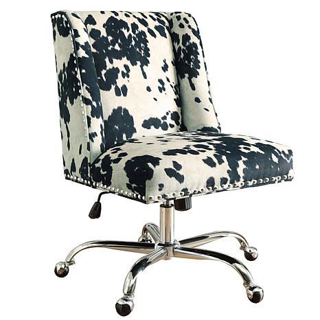 Linon Home Nash Udder Madness Black Office Chair - Black