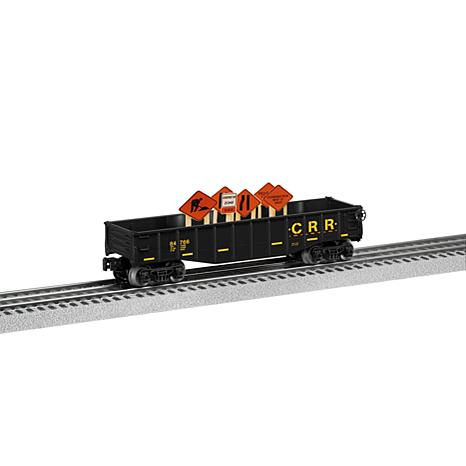 Lionel Trains O-Gauge Gondola Car with Construction Signs