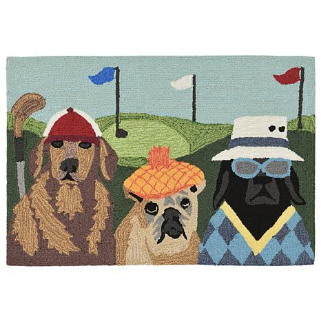 "Liora Manne Frontporch Putts & Mutts Rug - 20"" x 30"""