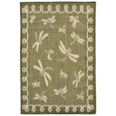 "Liora Manne Terrace Dragonfly 23"" x 35"" Rug - Green"