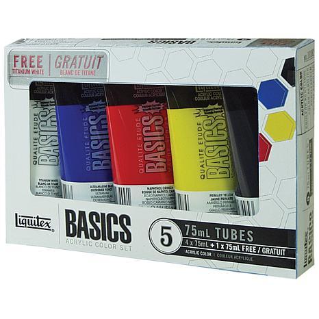 Liquitex 5-pack Basics Acrylic Paint - Assorted Colors