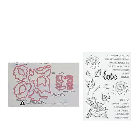 Little Darlings Love Blooms Stamp and Die Set