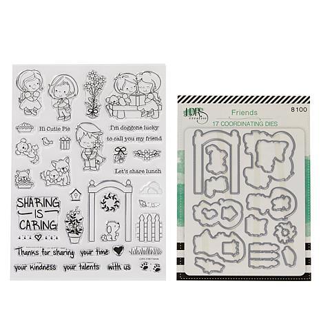 Little Darlings Sharing is Caring Build-A- Scene Stamp & Die Set