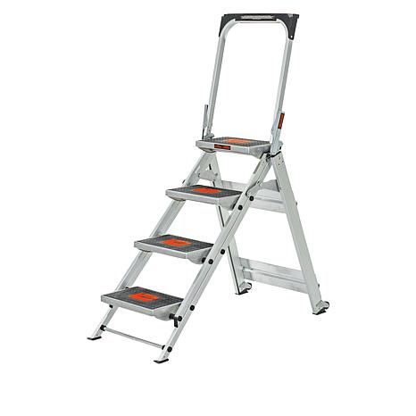 Little Giant Safety Step 4 Step Ladder 9372664 Hsn