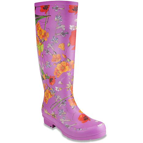London Fog® TOTTY Pull-On Floral Print Tall Rain Boot