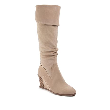 Lucca Lane Zander Suede and Microfiber Tall Fashion Boot