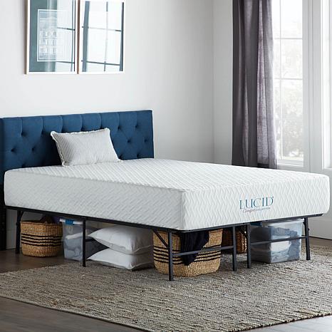 premium selection e928f 62a65 Lucid Comfort Collection Platform Cal King Bed Frame