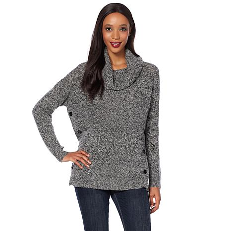 Lucky Brand Alyssa Side-Button Sweater - Missy